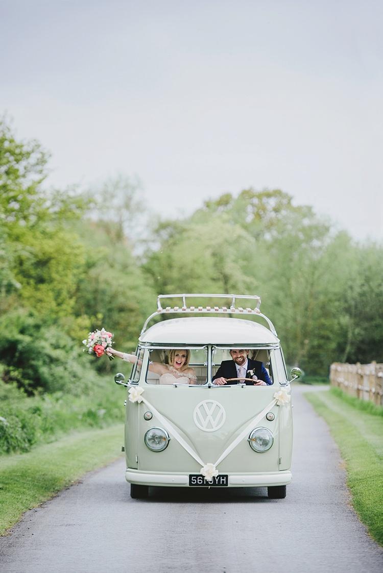 VW Campervan Untraditional Pretty Travel Barn Wedding https://www.georgimabee.com/