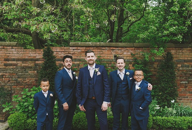 Navy Suits Groom Groomsmen Page Boys Untraditional Pretty Travel Barn Wedding https://www.georgimabee.com/