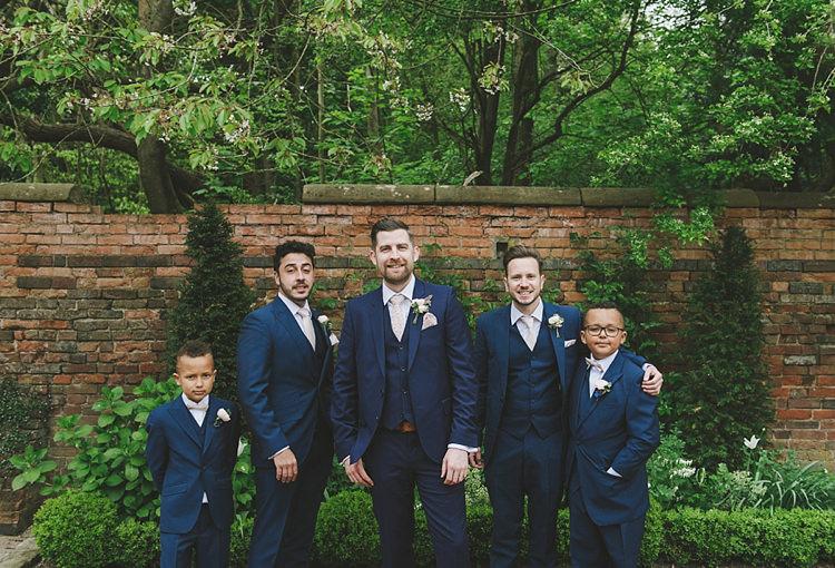 Navy Suits Groom Groomsmen Page Boys Untraditional Pretty Travel Barn Wedding https://www.georgimabee.com/