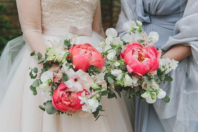 Peony Peonies Sweet Peas Flowers Bouquets Bride Bridal Untraditional Pretty Travel Barn Wedding https://www.georgimabee.com/