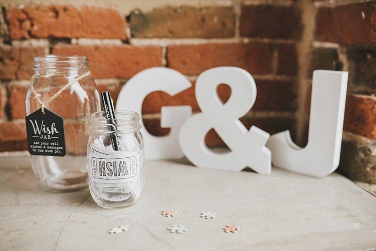 Wish Jar Untraditional Pretty Travel Barn Wedding https://www.georgimabee.com/