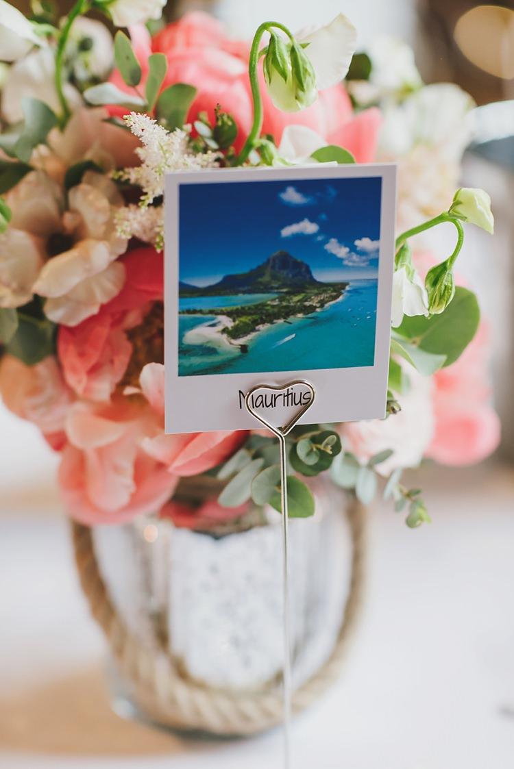Polaroid Place Table Name Untraditional Pretty Travel Barn Wedding https://www.georgimabee.com/