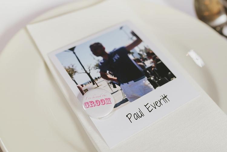 Groom Place Name Badge Polaroid Untraditional Pretty Travel Barn Wedding https://www.georgimabee.com/