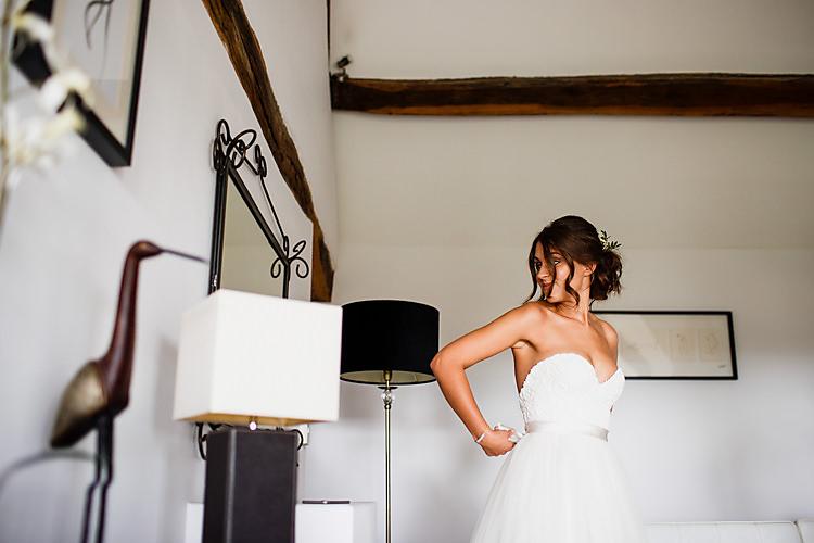 Dress Bride Bridal Strapless Halfpenny London Gown Chic Country Cotswolds Barn Wedding http://annabphotography.co.uk/