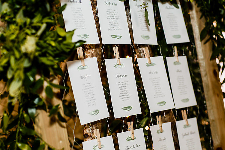 Table Plan Seating Plan Botanic Greenery Chic Country Cotswolds Barn Wedding http://annabphotography.co.uk/