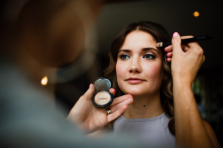 Make Up Bride Bridal Chic Country Cotswolds Barn Wedding http://annabphotography.co.uk/