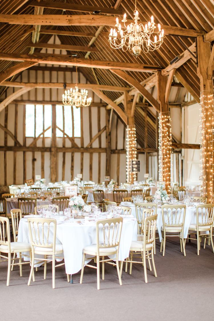 Fairy Lights Decoration Lighting Pastels Gold Pretty Summer Barn Wedding http://summerlilystudio.com/