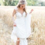 Pastels & Gold Pretty Summer Barn Wedding