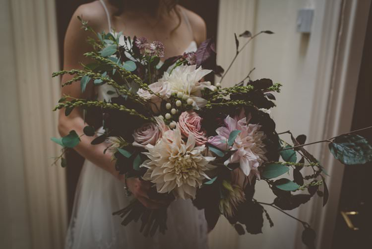 Flowers Bride Bridal Bouquet Large Blush Wild Bohemian Ethical Vegan Country Wedding http://laurarhianphotography.co.uk/