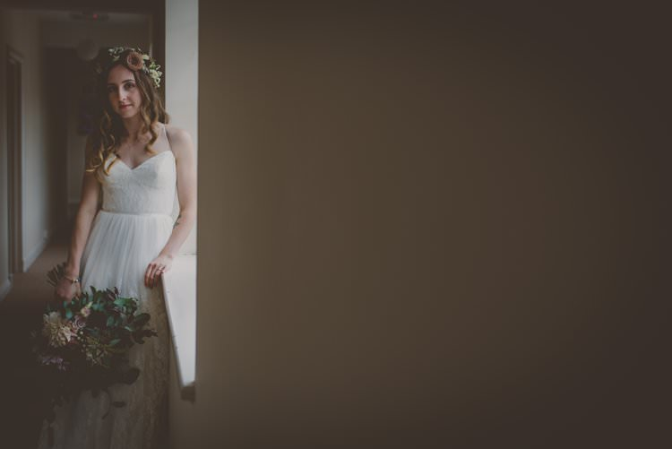 Ti Adora Strap Lace Dress Gown Bride Bridal Bohemian Ethical Vegan Country Wedding http://laurarhianphotography.co.uk/
