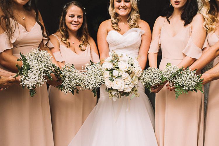 Gypsophila Bridesmaid Bouquets Tropical Boho Luxe Barn Wedding https://www.luciewatsonphotography.com/