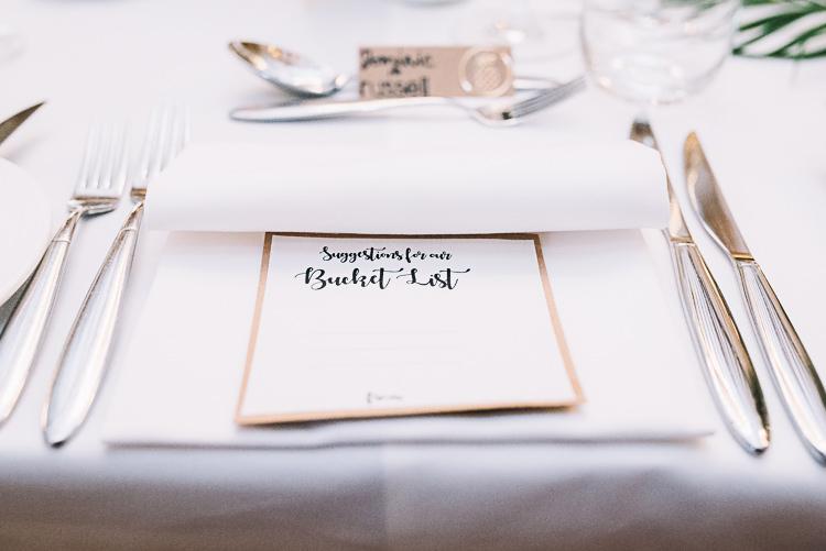 Bucket List Guest Book Tropical Boho Luxe Barn Wedding https://www.luciewatsonphotography.com/