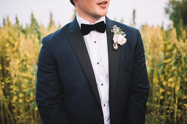 Black Tie Velvet Groom Suit Tropical Boho Luxe Barn Wedding https://www.luciewatsonphotography.com/