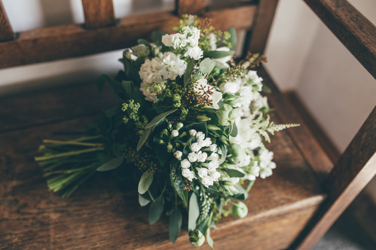 Foliage Bouquet Bride Bridal Flowers White Natural Earthy Greenery Home Made Wedding http://rachellambertphotography.co.uk/