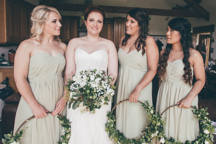 Floral Flower Hoops Bridesmaids Dresses Natural Earthy Greenery Home Made Wedding http://rachellambertphotography.co.uk/
