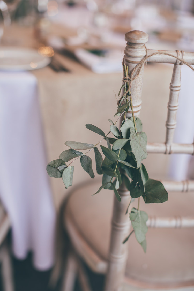 Foliage Chair Twine Decor Natural Earthy Greenery Home Made Wedding http://rachellambertphotography.co.uk/