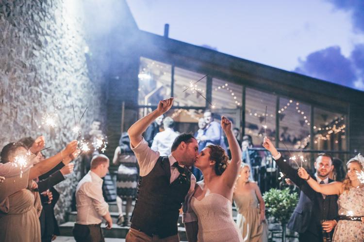 Sparklers Bride Groom Natural Earthy Greenery Home Made Wedding http://rachellambertphotography.co.uk/