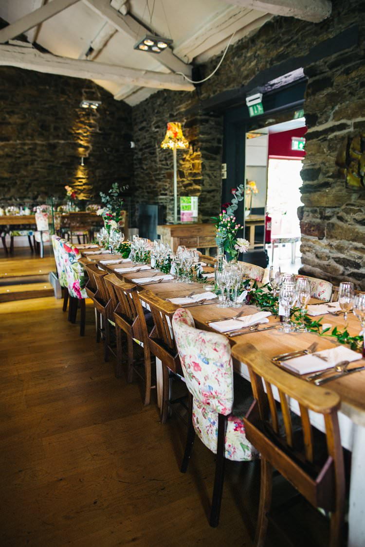 Mismatched Chairs Flowers Foliage Table Runners Colourful Floral Family Friendly Wedding http://www.sallytphoto.com/