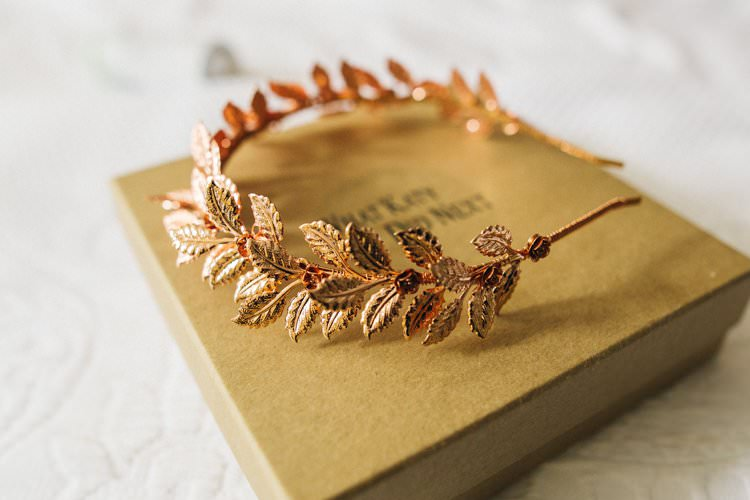 Rose Gold Crown Bride Bridal Accessory Hair Piece Crown What Katie Did Next Colourful Floral Family Friendly Wedding http://www.sallytphoto.com/