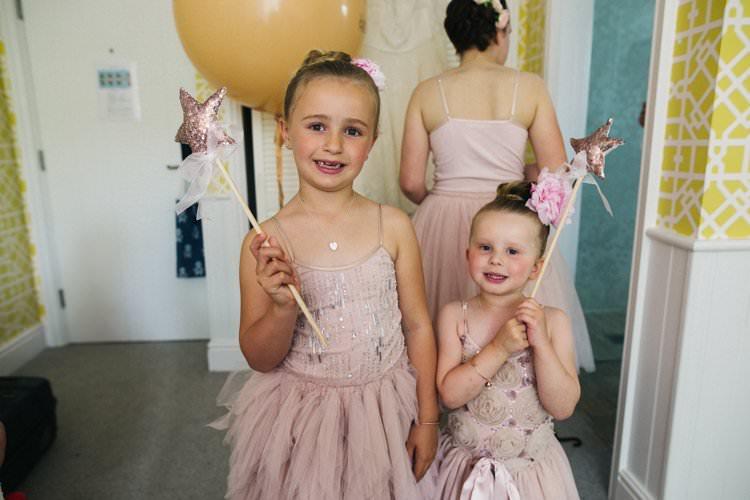 Flower Girls Tulle Dress Pink Bun Rose Star Wand Glitter Colourful Floral Family Friendly Wedding http://www.sallytphoto.com/