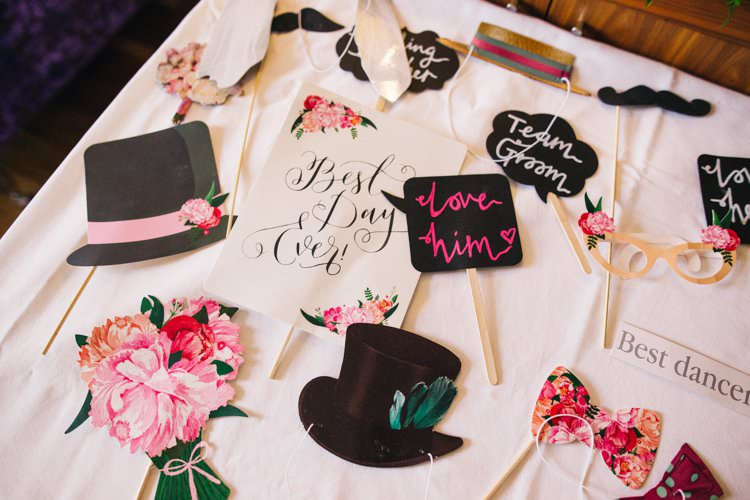 Photo Booth Props Cut Outs DIY Colourful Floral Family Friendly Wedding http://www.sallytphoto.com/