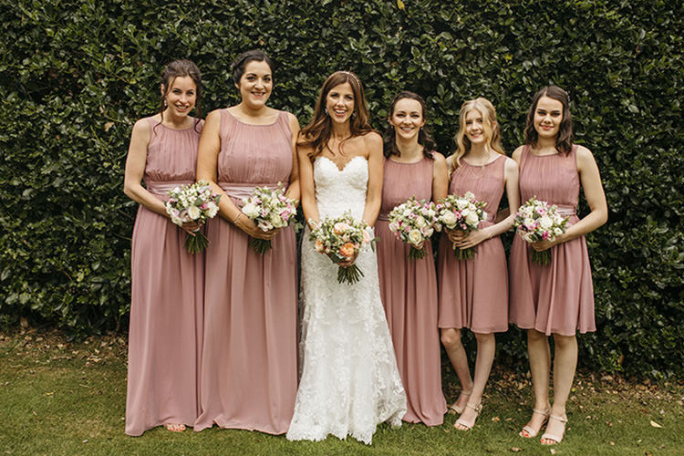Bride Bridal Sweetheart Neckline Essence of Australia Fishtail Pink Blush Bridesmaids Grecian Pretty Floral Boho Tipi Wedding https://www.kindredphotography.co.uk/