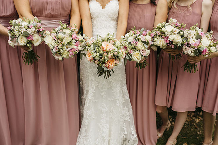 Bride Bridal Gown Dress Sweetheart Neckline Lace Pink Blush Grecian Bouquet Pretty Floral Boho Tipi Wedding https://www.kindredphotography.co.uk/