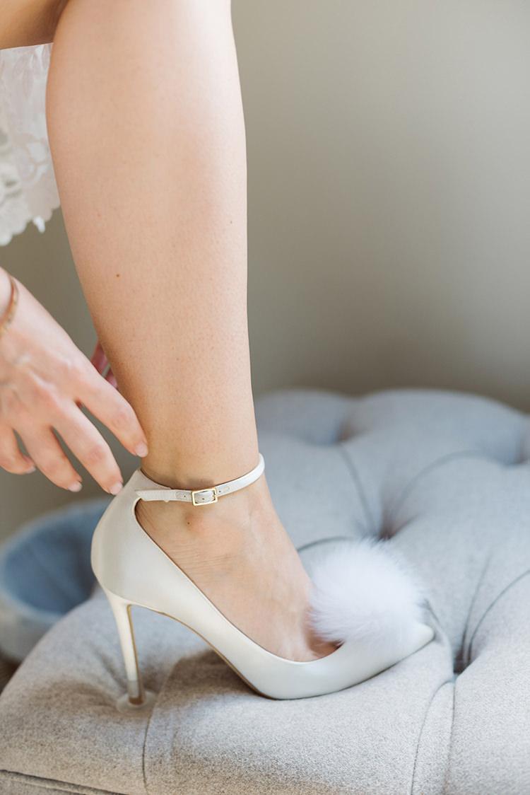 Jimmy Choo Pom Pom Heels Shoes Bride Bridal Darling Peach Sage Green Grey Farm Wedding http://www.photographybybea.co.uk/