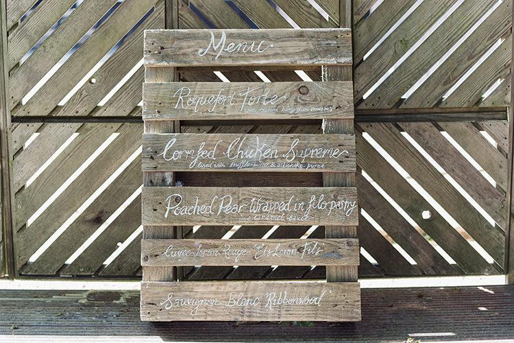 Wooden Pallet Sign Menu Darling Peach Sage Green Grey Farm Wedding http://www.photographybybea.co.uk/