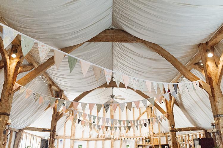 Bunting Barn Darling Peach Sage Green Grey Farm Wedding http://www.photographybybea.co.uk/