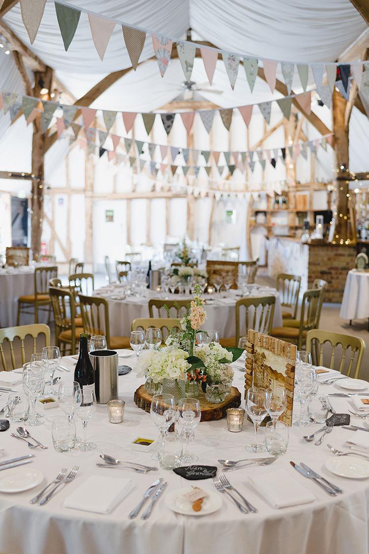 Barn South Farm Bunting Darling Peach Sage Green Grey Farm Wedding http://www.photographybybea.co.uk/