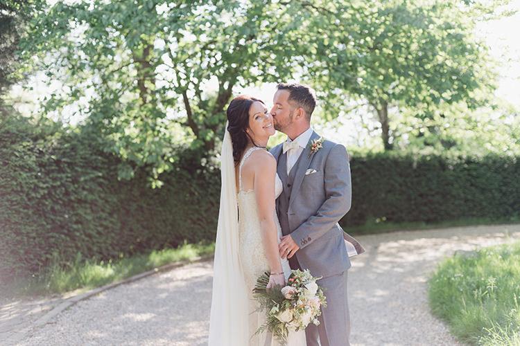 Darling Peach Sage Green Grey Farm Wedding http://www.photographybybea.co.uk/
