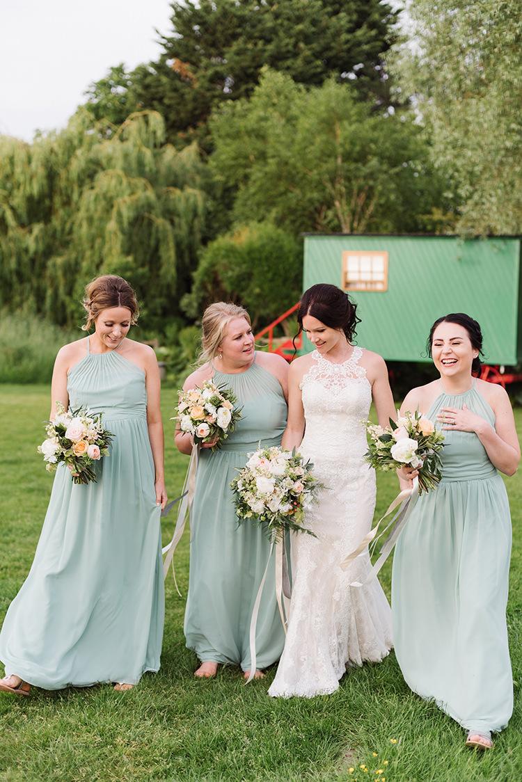 Long Maxi Dresses Bridesmaids Darling Peach Sage Green Grey Farm Wedding http://www.photographybybea.co.uk/