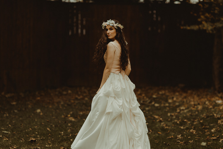 Vintage Dress Gown Bride Bridal Moody Ethereal Winter Woodland Wedding Ideas http://belleartphotography.co.uk/