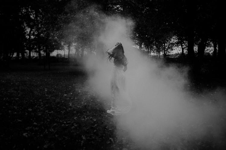 Smoke Bombs Moody Ethereal Winter Woodland Wedding Ideas http://belleartphotography.co.uk/