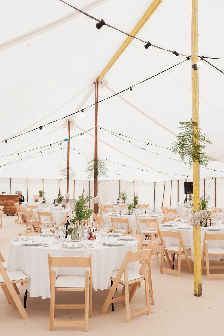 Pole Tent Marquee Festoon Lights Fun Late Summer Outdoor Farm Wedding http://bowtieandbellephotography.co.uk/