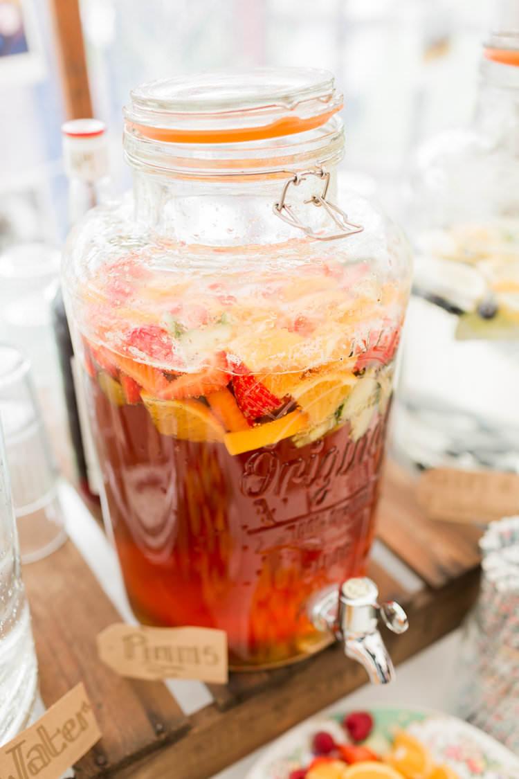 Drink Dispenser Fun Late Summer Outdoor Farm Wedding http://bowtieandbellephotography.co.uk/