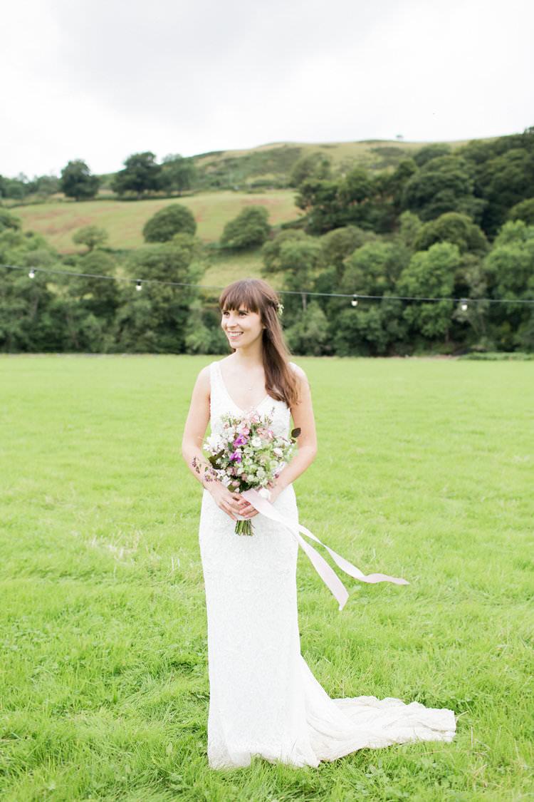 Solange BellaDonna by Wendy Makin Dress Gown Bride Bridal Fun Late Summer Outdoor Farm Wedding http://bowtieandbellephotography.co.uk/
