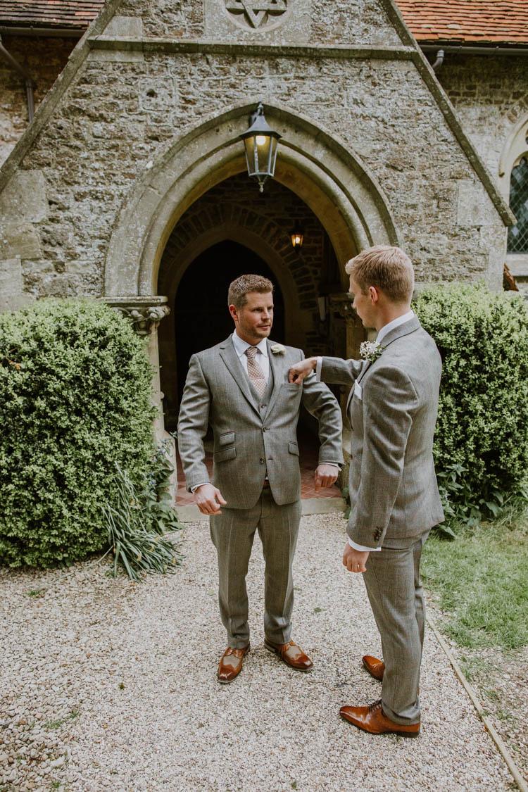 Check Suit Brown Groom Style Rustic Copper Spring Barn Wedding http://www.alexandrajane.co.uk/