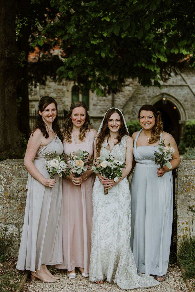 Pastel Multi Way Bridesmaid Dresses Rustic Copper Spring Barn Wedding http://www.alexandrajane.co.uk/