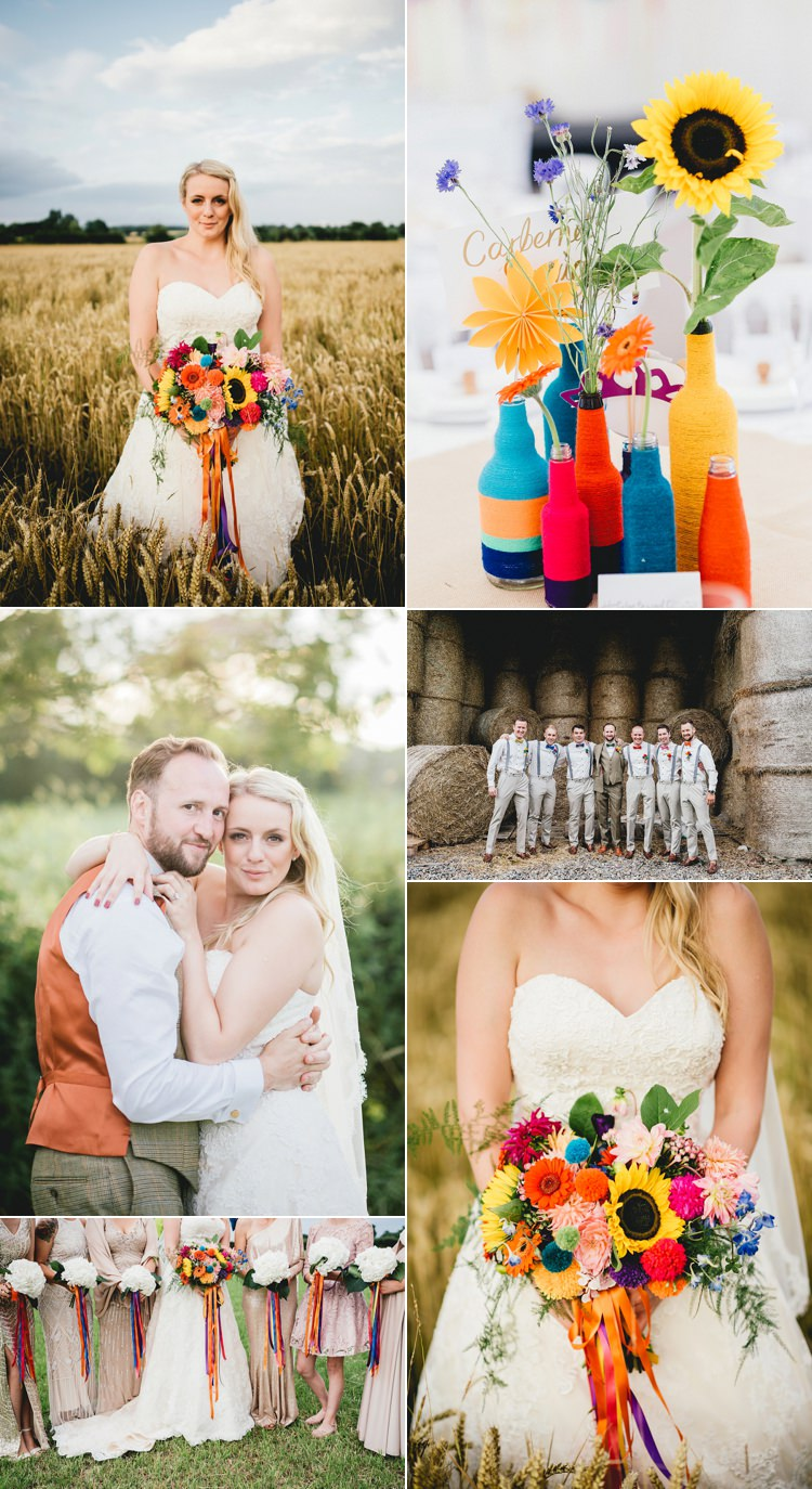 Multicolour Summer Real Wedding Ideas Inspiration Trends 2017 2018 http://benjaminmathers.co.uk/