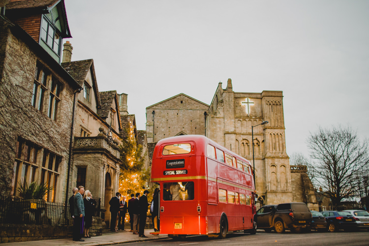 Red Double Decker Bus Transport Christmas Wedding Cotswolds http://jonnymp.com/