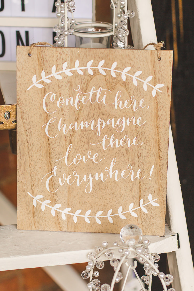 Hand Painted Sign Welcome Whimsical Romantic Barn Wedding http://kirstymackenziephotography.co.uk/