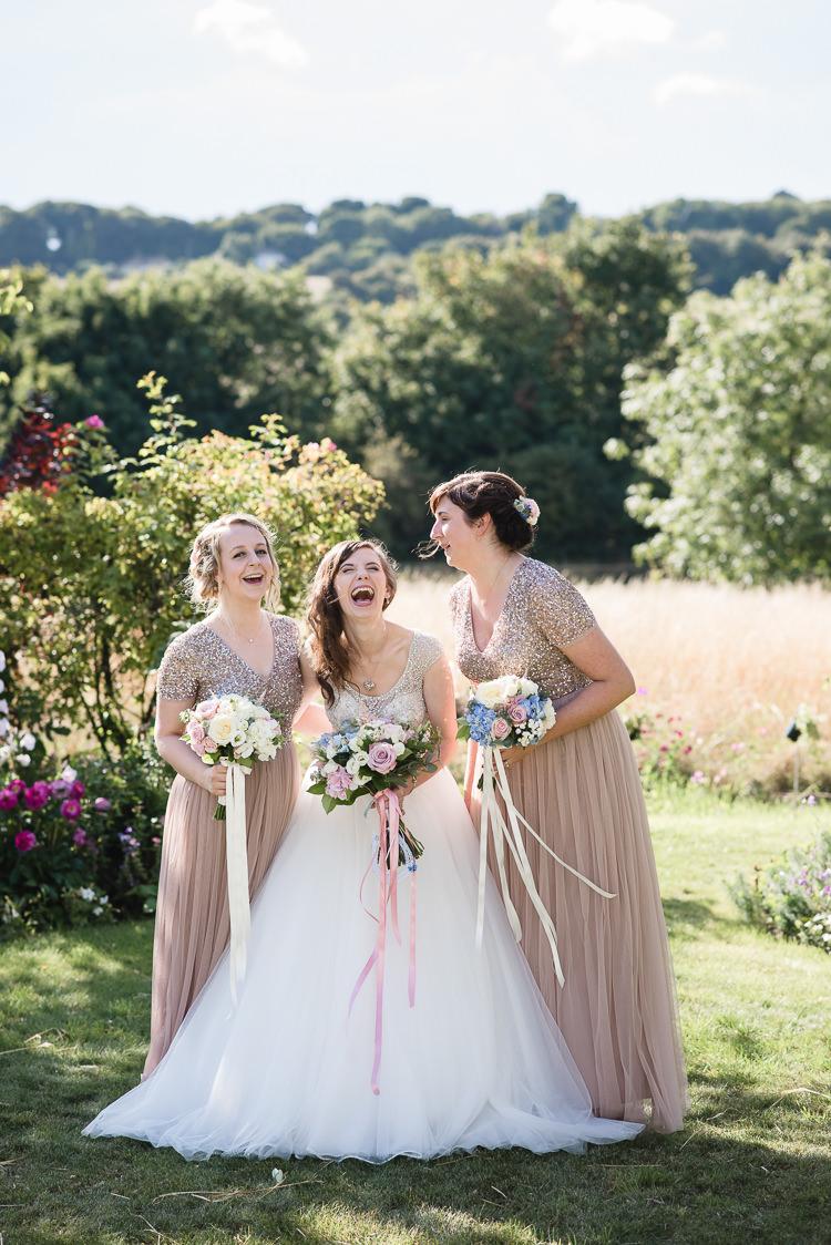 Bride Bridal Bridesmaids Princess Sparkly Embellished Blush Personal Homegrown Country Farm Wedding https://www.emmahare.com/