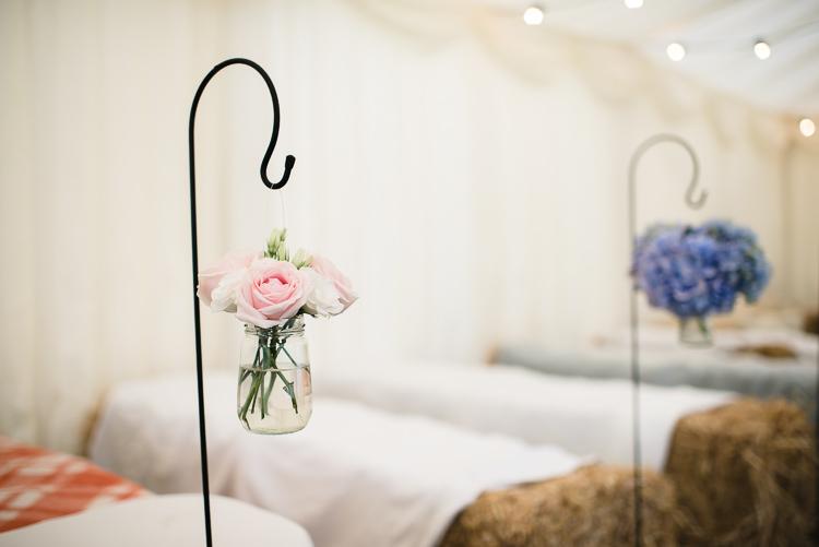 Shepherds Crook Jam Jar Rose Flower Floral Personal Homegrown Country Farm Wedding https://www.emmahare.com/
