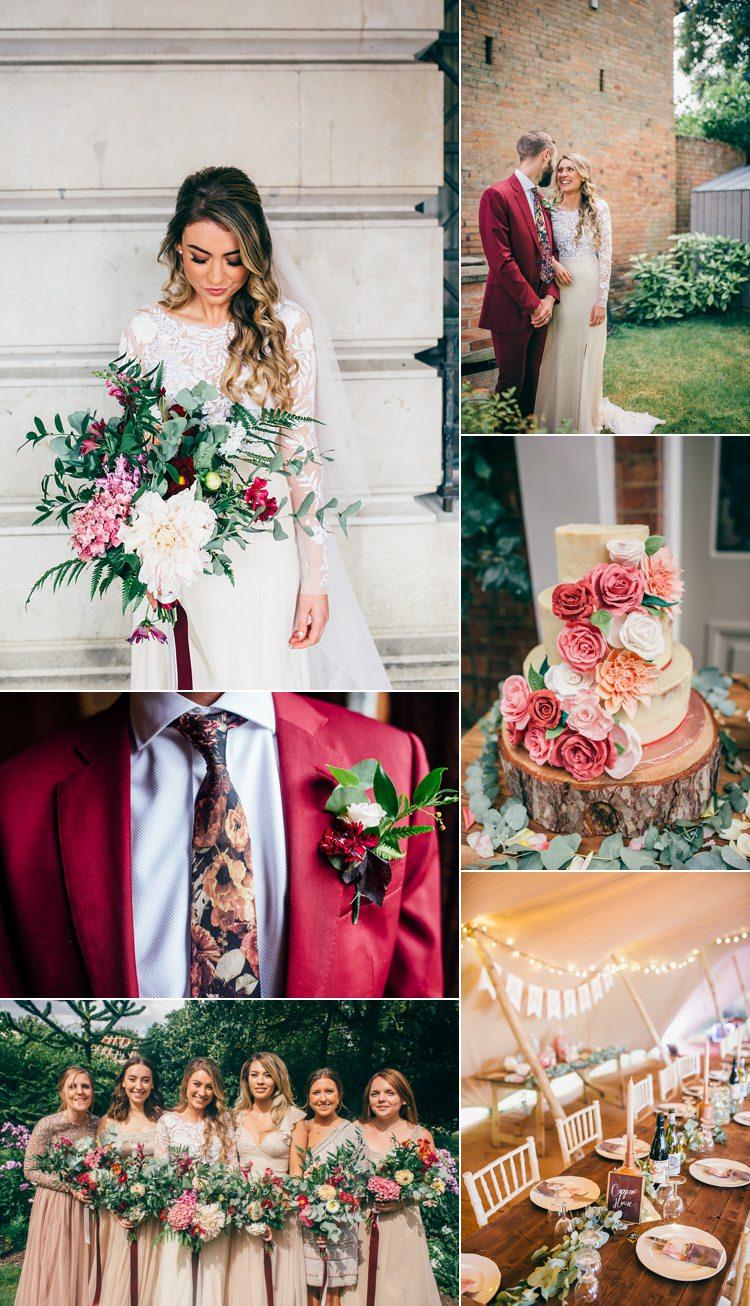 Burgundy & Rose Gold Real Wedding Ideas Inspiration Trends 2017 2018 https://www.jakemorley.co.uk/