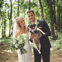 Rustic Outdoor Summer Wedding Pet Pug http://kirstymackenziephotography.co.uk/