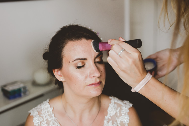 Make Up Bride Bridal Beauty Brightly Coloured Mismatched Marquee Wedding http://www.nicolacasey.photography/