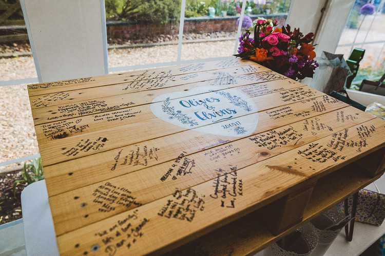 Guest Book Table Sign Brightly Coloured Mismatched Marquee Wedding http://www.nicolacasey.photography/