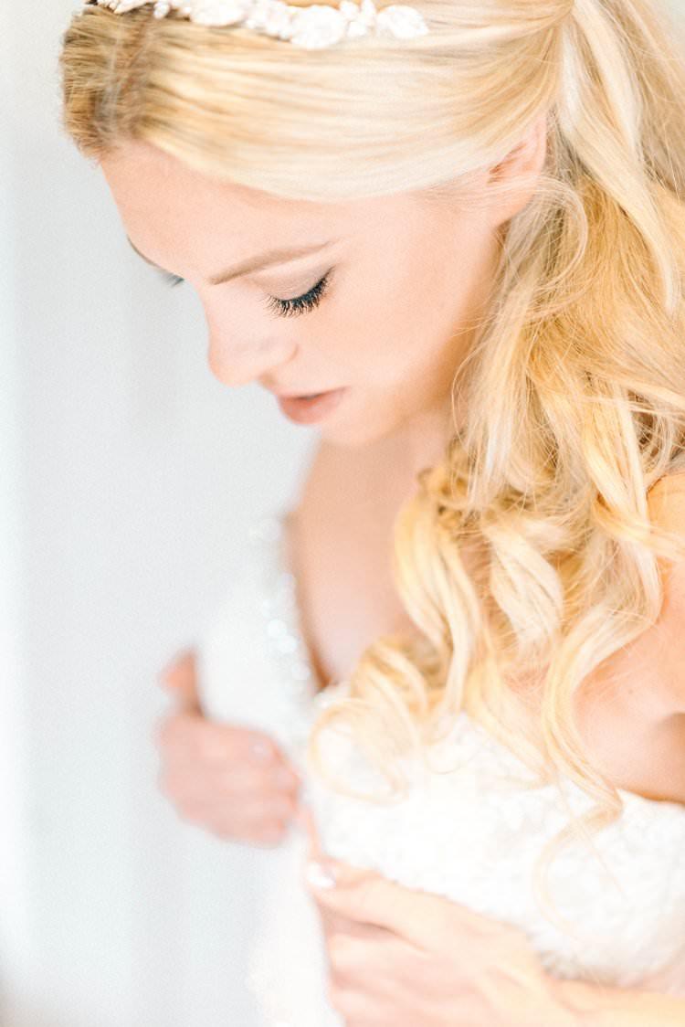 Long Hair Bride Bridal Waves Blonde Rustic Summer Country DIY Barn Wedding http://sarahjaneethan.co.uk/